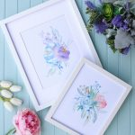 6 Free Printable Floral Watercolour Designs | The Happy Housie   Free Watercolor Printables