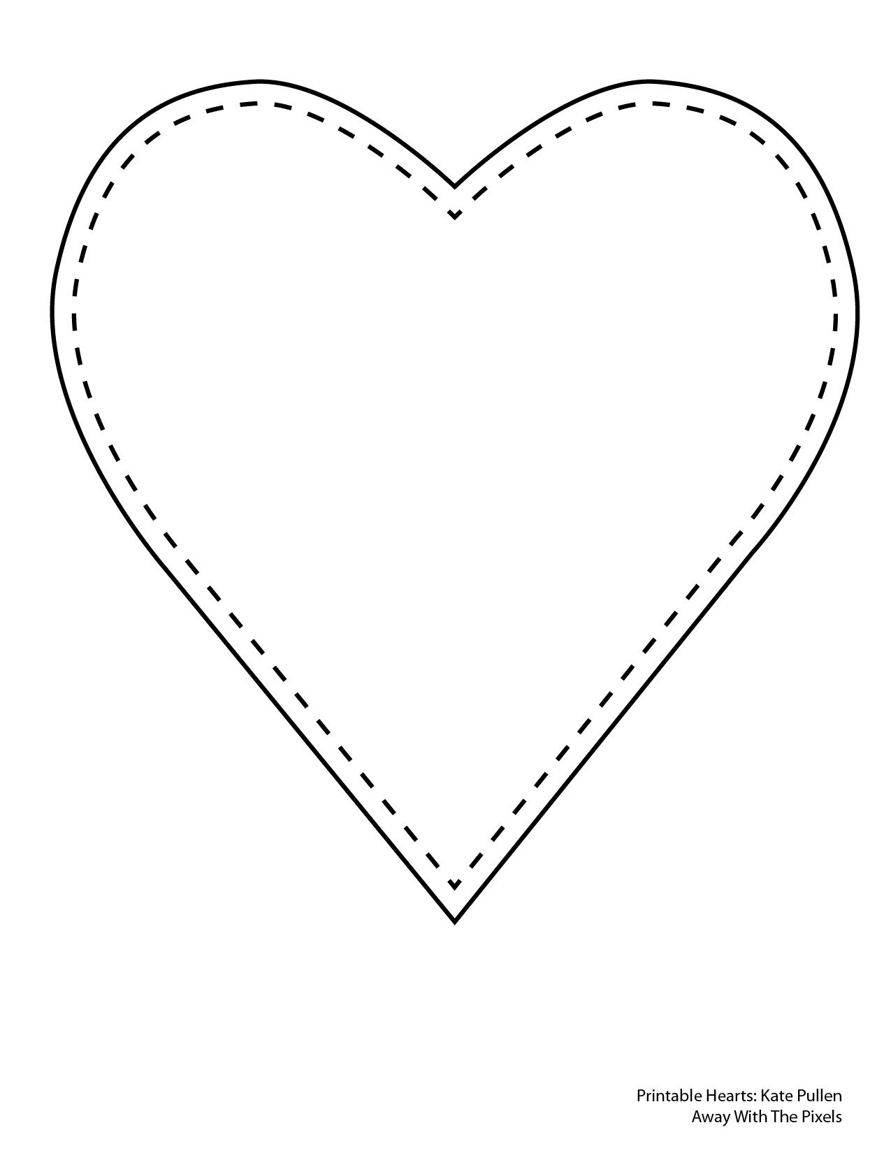 6 Free Printable Heart Templates - Free Printable Hearts