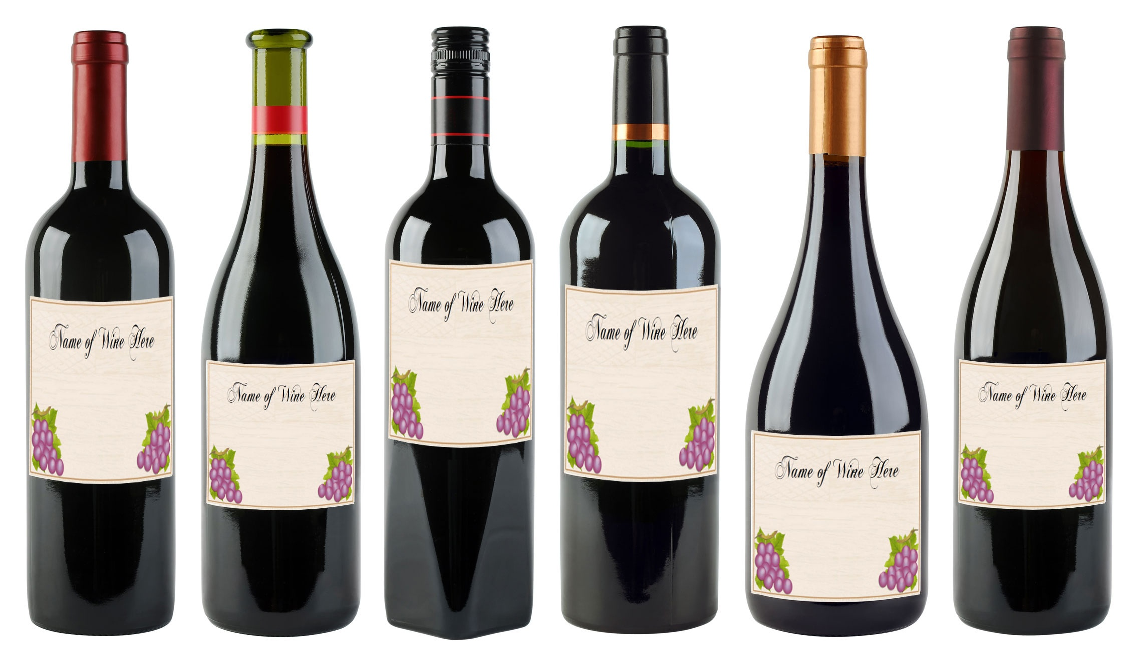 6 Free Printable Wine Labels You Can Customize | Lovetoknow - Free Printable Mini Champagne Bottle Labels