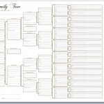 6 Generation Pedigree Chart White | Templates | Family Tree Chart   Free Printable Family History Forms