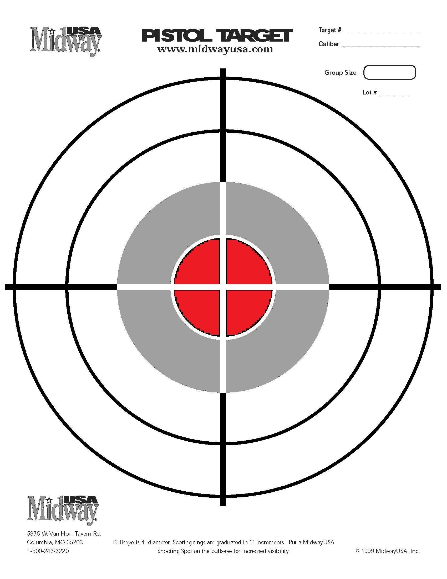 60 Fun Printable Targets | Kittybabylove - Free Printable Bullseye