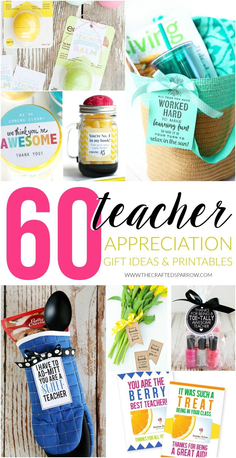 60 Teacher Appreciation Gift Ideas & Printables - Free Printable Teacher Appreciation Gift Tags