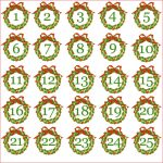 7 Best Images Of Christmas Printable Number Stickers Printable   Free Printable Advent Numbers