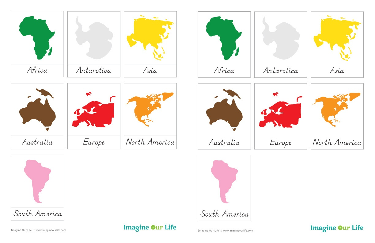 7 Continents Coloring Page | Free Download Best 7 Continents - Free Printable Continent Map