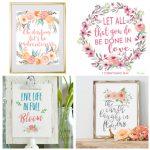 7 Free Floral Printables – Bustle & Sew   Floral Printables Free
