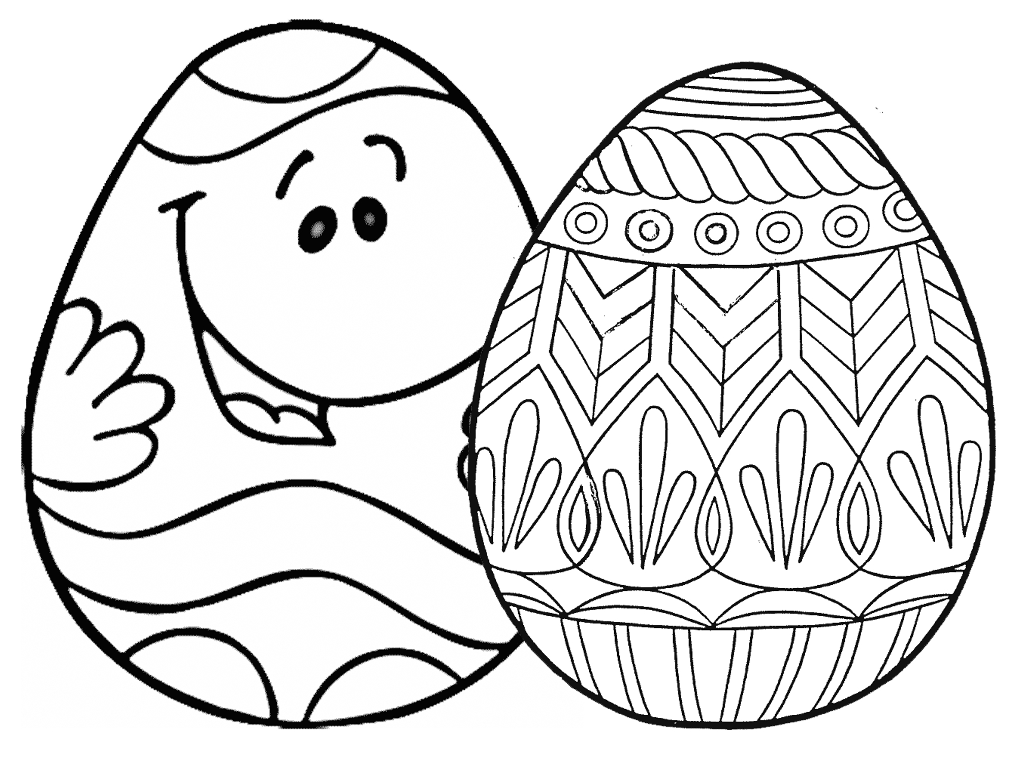 7 Places For Free, Printable Easter Egg Coloring Pages - Easter Egg Coloring Pages Free Printable