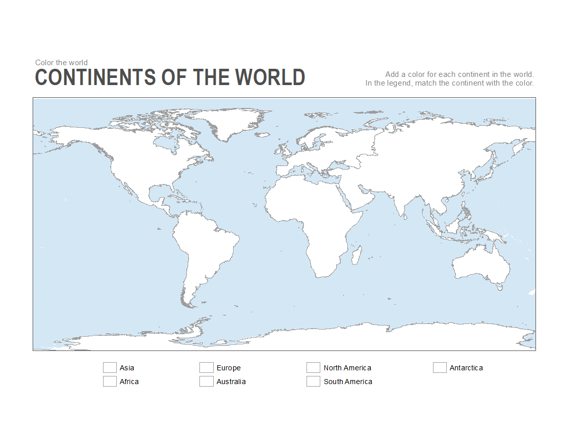 7 Printable Blank Maps For Coloring Activities In Your Geography - Free Printable Continent Map