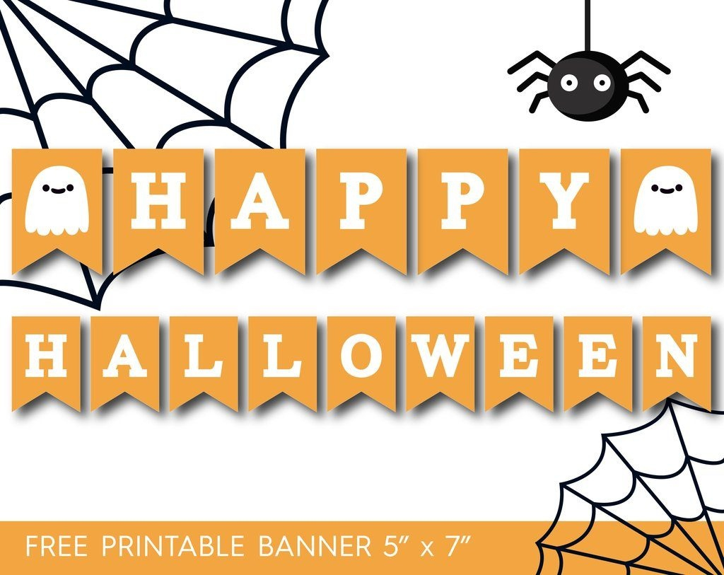 7 Printable Halloween Banners - Printables 4 Mom - Free Printable Halloween Banner