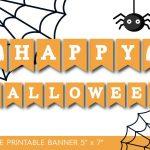 7 Printable Halloween Banners   Printables 4 Mom   Free Printable Halloween Banner Templates