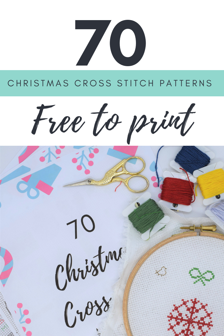 70 Christmas Cross Stitch Patterns Free To Print | Cross Stitch - Free Printable Christmas Ornament Cross Stitch Patterns