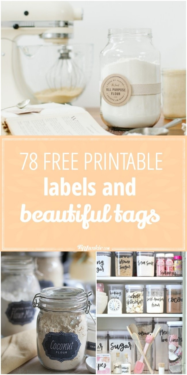 78 Free Printable Labels And Beautiful Tags – Tip Junkie - Free Printable Labels For Storage Bins