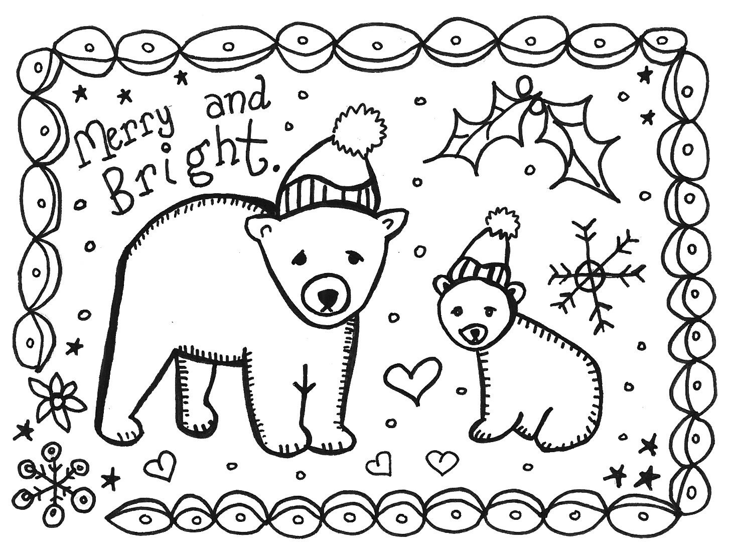 8 Best Images Of Printable Christmas Cards To Color - Free - Free Printable Christmas Cards To Color