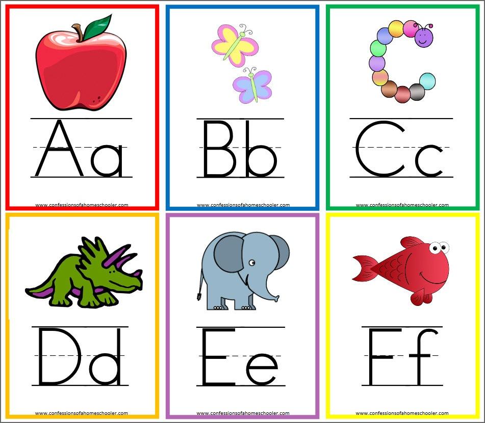 8 Free Printable Educational Alphabet Flashcards For Kids - Free Printable Alphabet Cards With Pictures