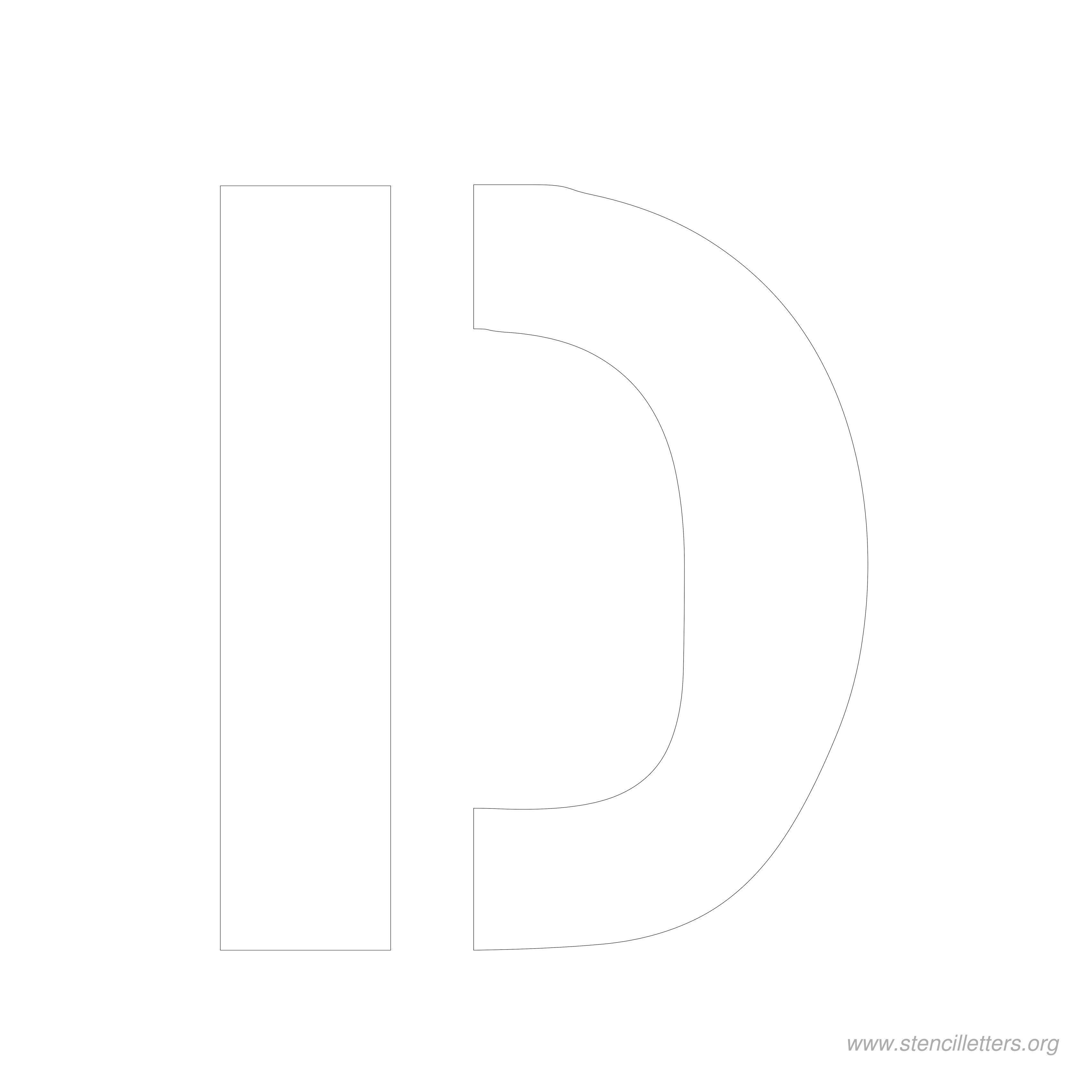 8 Inch Stencil Letter D | Letters | Letter Stencils, Lettering, Stencils - Free Printable 10 Inch Letter Stencils
