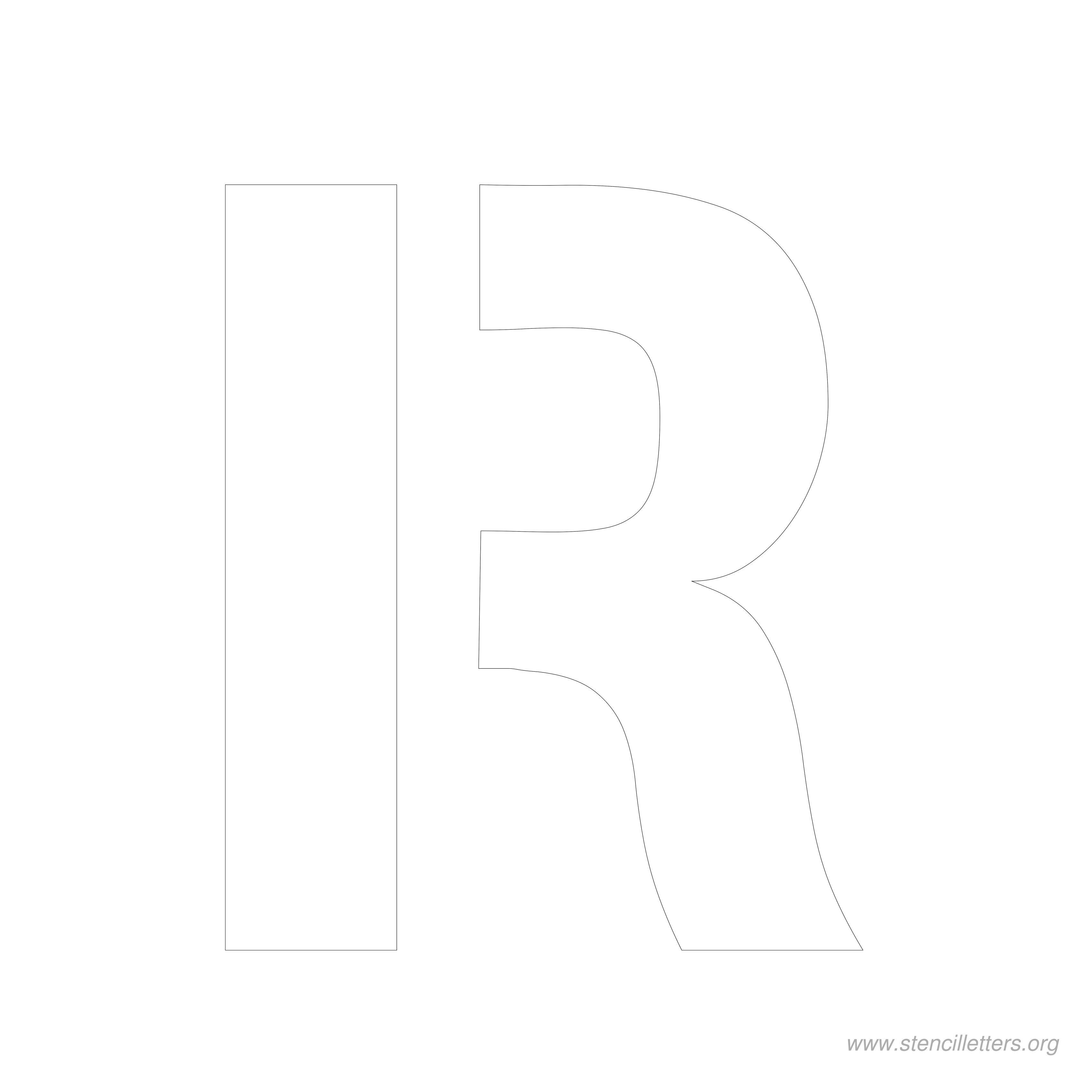 8 Inch Stencil Letter R   Letters   Letter Stencils, Lettering, Stencils - Free Printable 8 Inch Letters