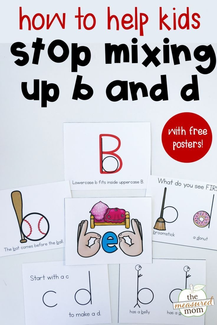 8 Ways To Help Kids Stop Making B And D Letter Reversals   English - Literacy Posters Free Printable