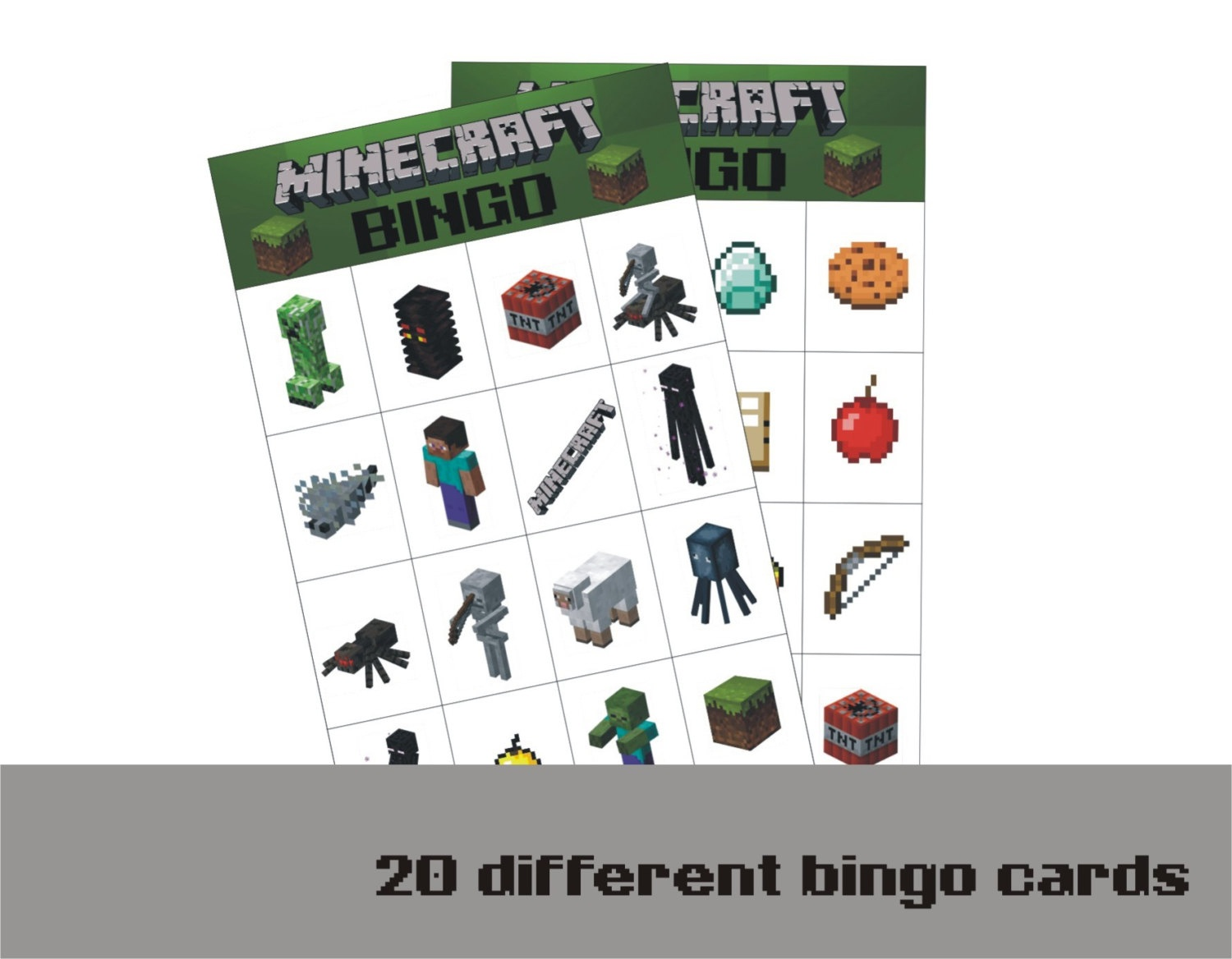 9 Best Photos Of Printable Minecraft Bingo Game - Free Printable - Free Printable Minecraft Bingo Cards