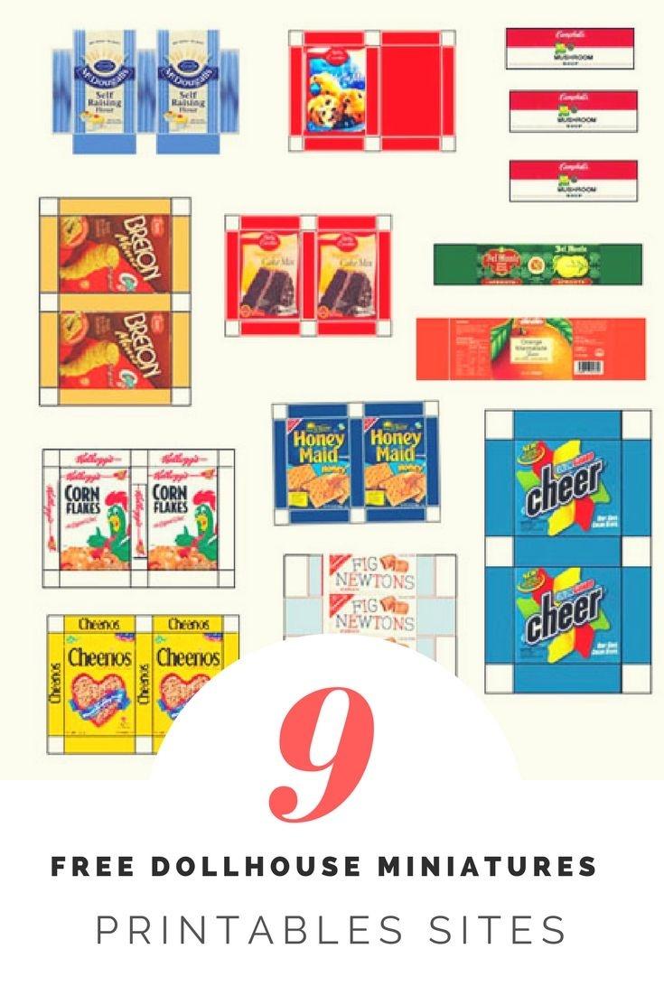 9 Free Dollhouse Miniature Printables Sites   Mimi Printable - Free Dollhouse Printables