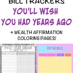9 Printable Bill Payment Checklists And Bill Trackers   The Artisan Life   Free Printable Bill Checklist