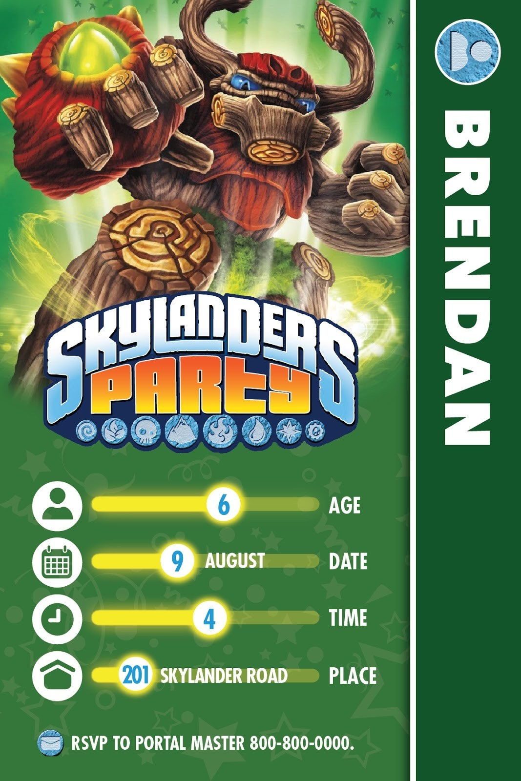 95+ Skylanders Birthday Invitations Printable - Some Of The Best - Free Printable Skylander Invitations