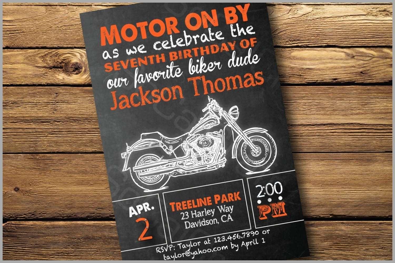 96+ Harley Davidson Birthday Invitations Printable - Motorcycle - Free Printable Harley Davidson Birthday Invitations