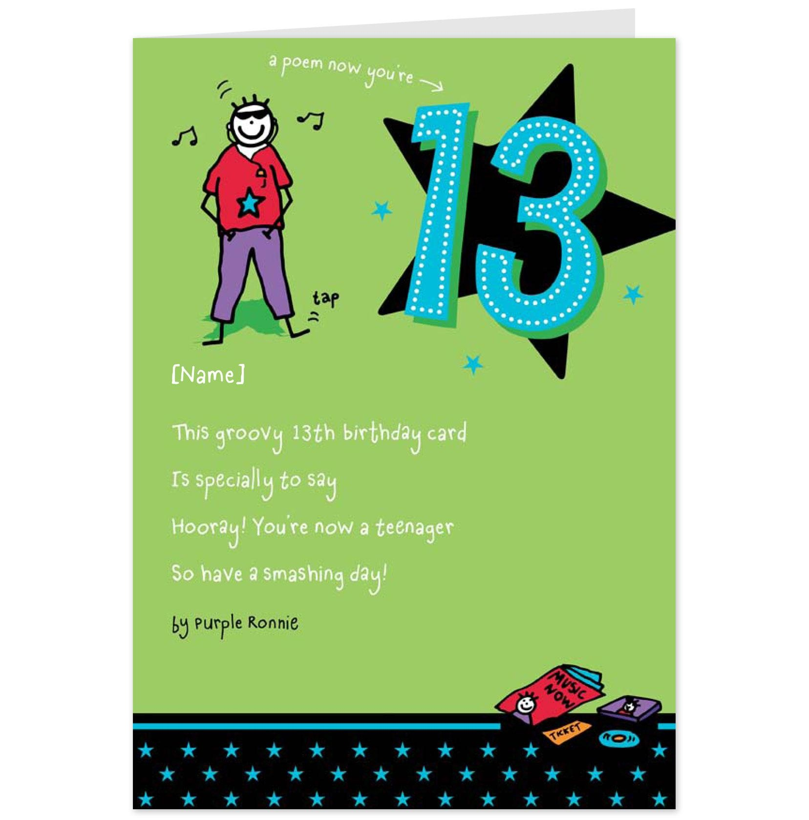 98+ Funny 13Th Birthday Cards Printable - Funny Printable Birthday - 13Th Birthday Cards Printable Free
