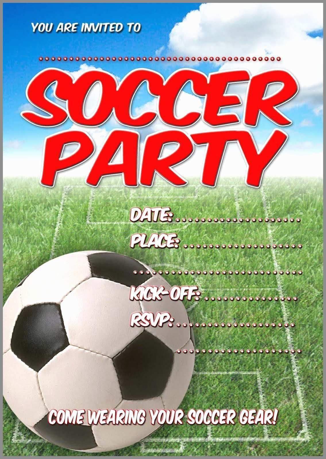 98+ Printable Birthday Cards Soccer - Free Printable Birthday Party - Free Printable Soccer Birthday Invitations