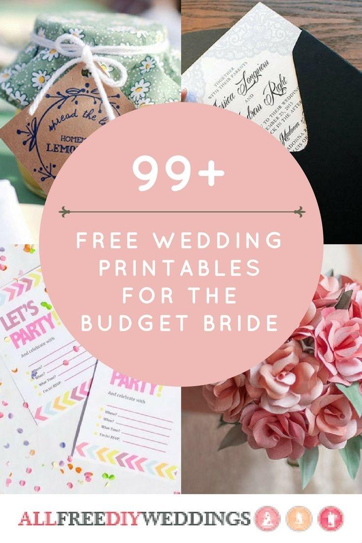 99+ Free Wedding Printables For The Budget Bride   Free Wedding - Free Wedding Printables