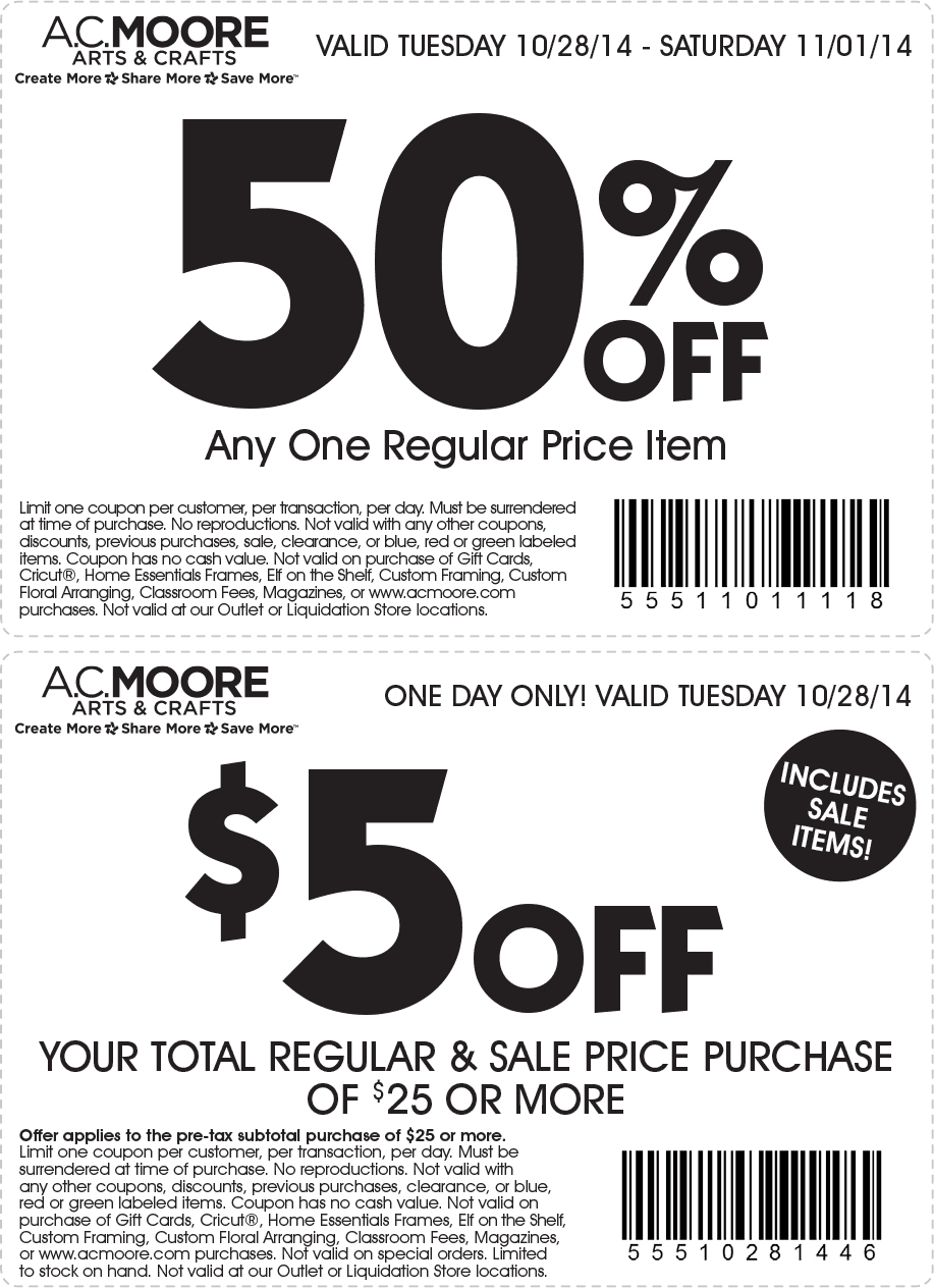 A.c. Moore Coupons & Promo Codes - Free Online Printable Ac Moore Coupons