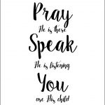 A Child's Prayer Free Printable. Lds. Faith. Inspiration. Free   For This Child We Have Prayed Free Printable