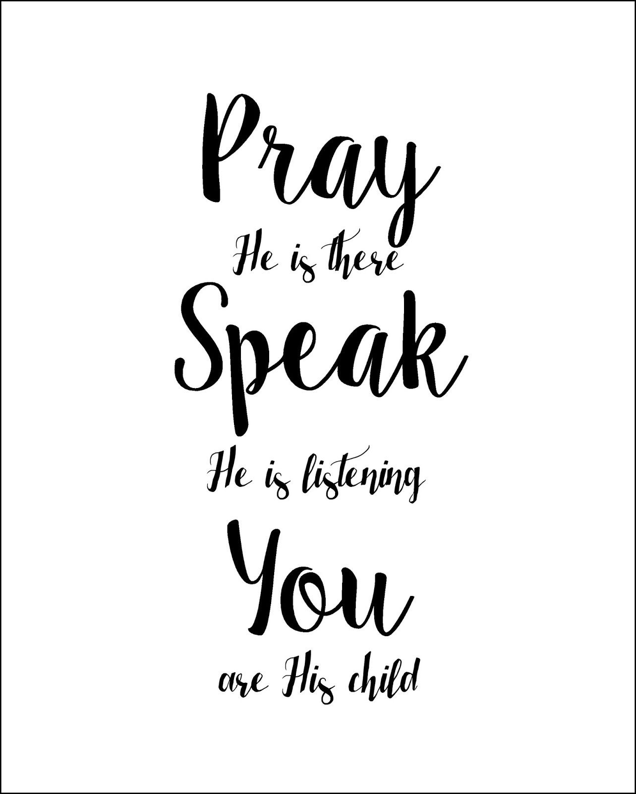A Child's Prayer Free Printable. Lds. Faith. Inspiration. Free - For This Child We Have Prayed Free Printable