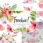 A Collection Of 240+ Free Watercolor Floral Elements   Floral Printables Free