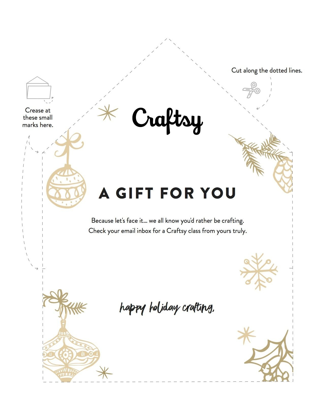 A Free Printable Gift Certificate For Craftsy Classes   Printables - Free Printable Xmas Gift Certificates