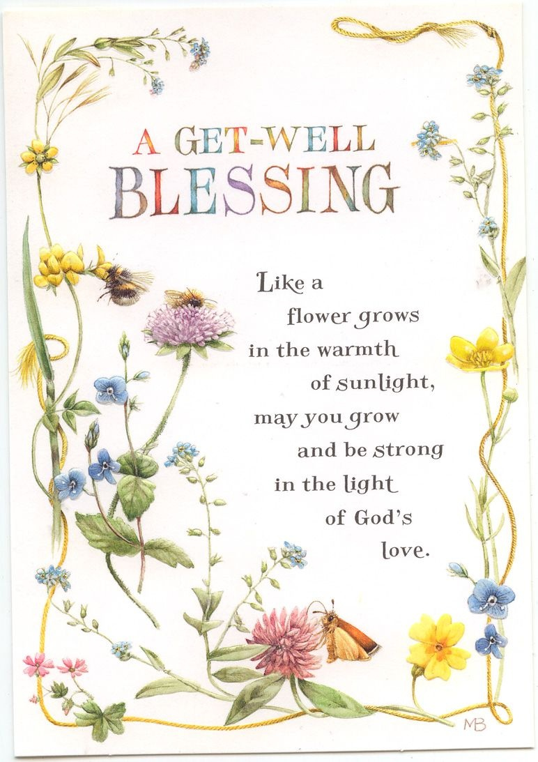 A Get Well Blessing Greeting Card   Feeling Stuck   Get Well Soon - Free Printable Christian Birthday Greeting Cards