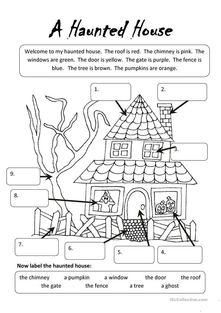 A Haunted House Worksheet - Free Esl Printable Worksheets Made - Halloween Worksheets Free Printable