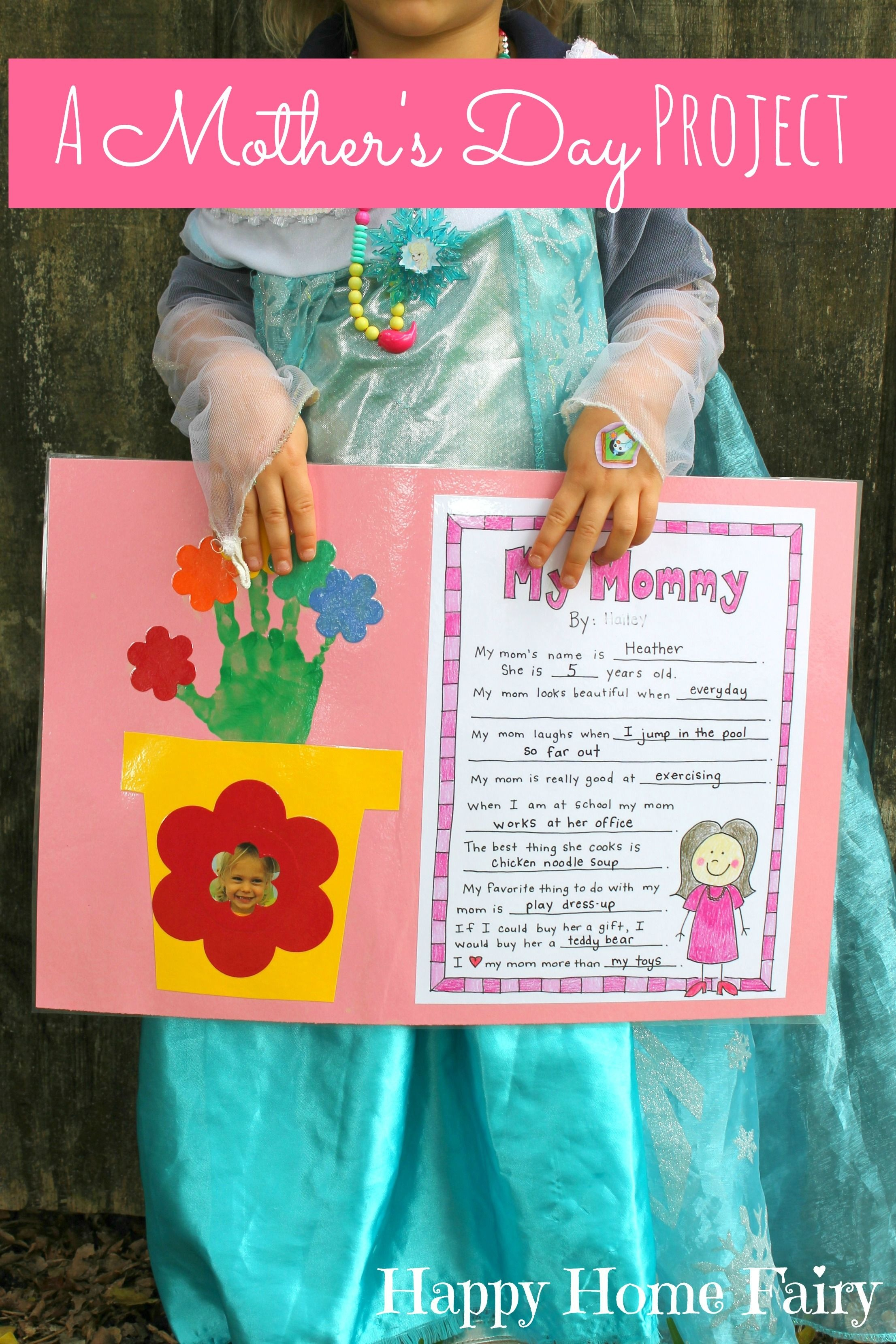 A Mother's Day Project - Free Printable | Mother's Day | Mother's - Free Printable Mothers Day Crafts