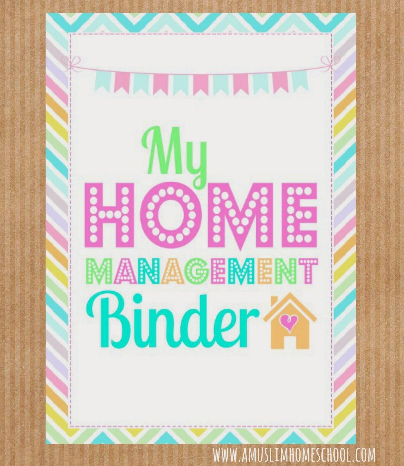 A Muslim Homeschool: August 2014 - Free Home Management Binder Printables 2017
