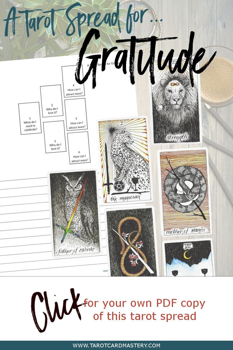 A Tarot Spread For Gratitude   Tarot Card Spreads   Tarot, Tarot - Free Printable Tarot Cards