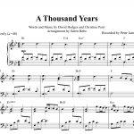 A Thousand Years (Christina Perri) Piano Sheet Music (Pdf) | Music   Free Printable Music Sheets Pdf