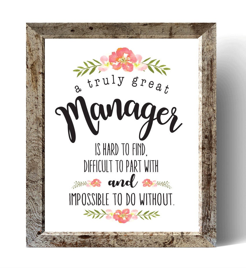 A Truly Amazing Manager Is Hard To Find & Impossible To Do | Etsy - Boss Day Cards Free Printable