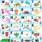 A Z Upper Case Alphabet   Esl Board Game Worksheet   Free Esl   Free Printable Alphabet Games