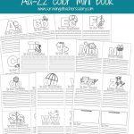 Aa Zz Alphabet Letter Mini Color Book Practice Printable   Free Printable Abc Mini Books