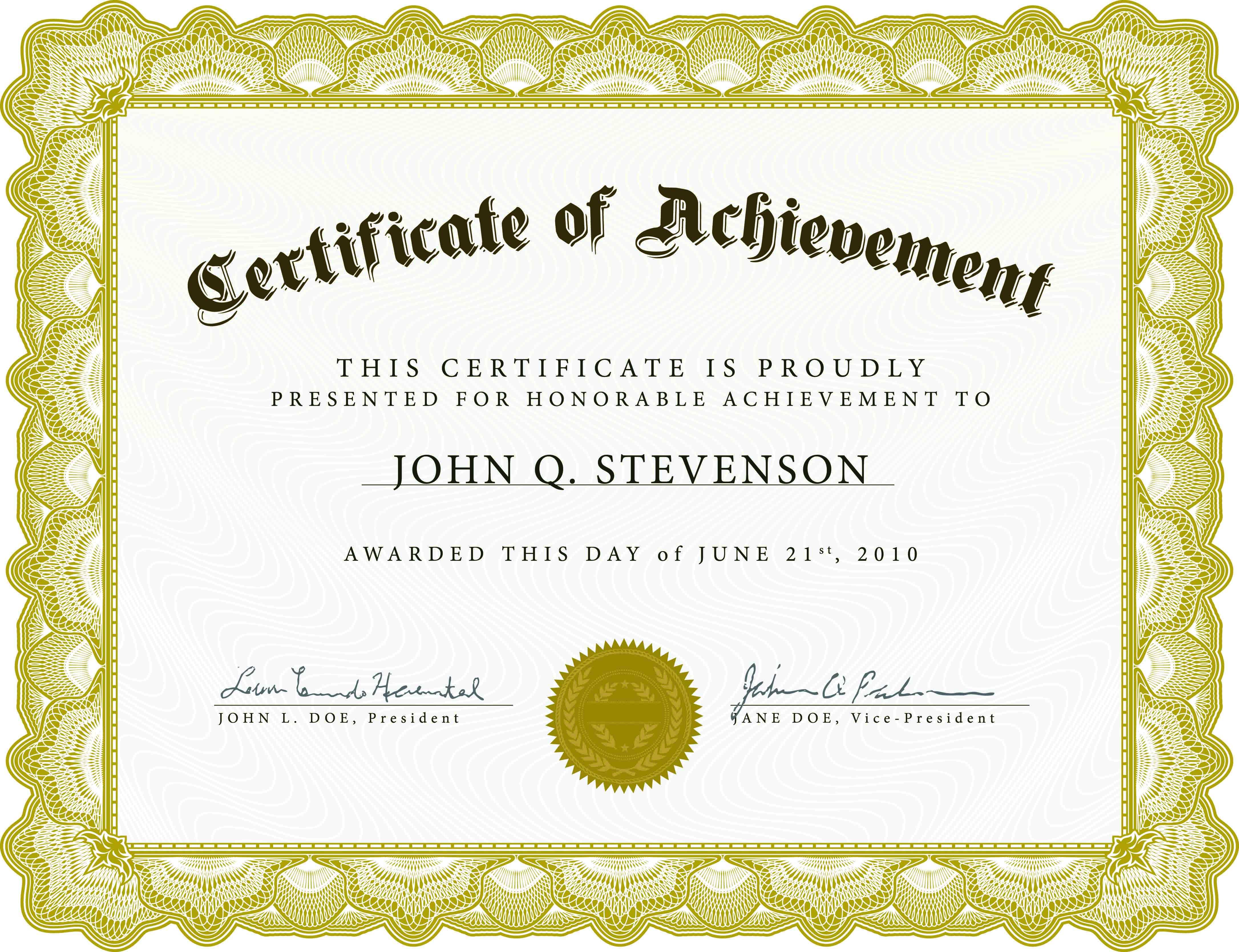 Achieve-Awards-Printable-Certificates - Free Printable Certificates