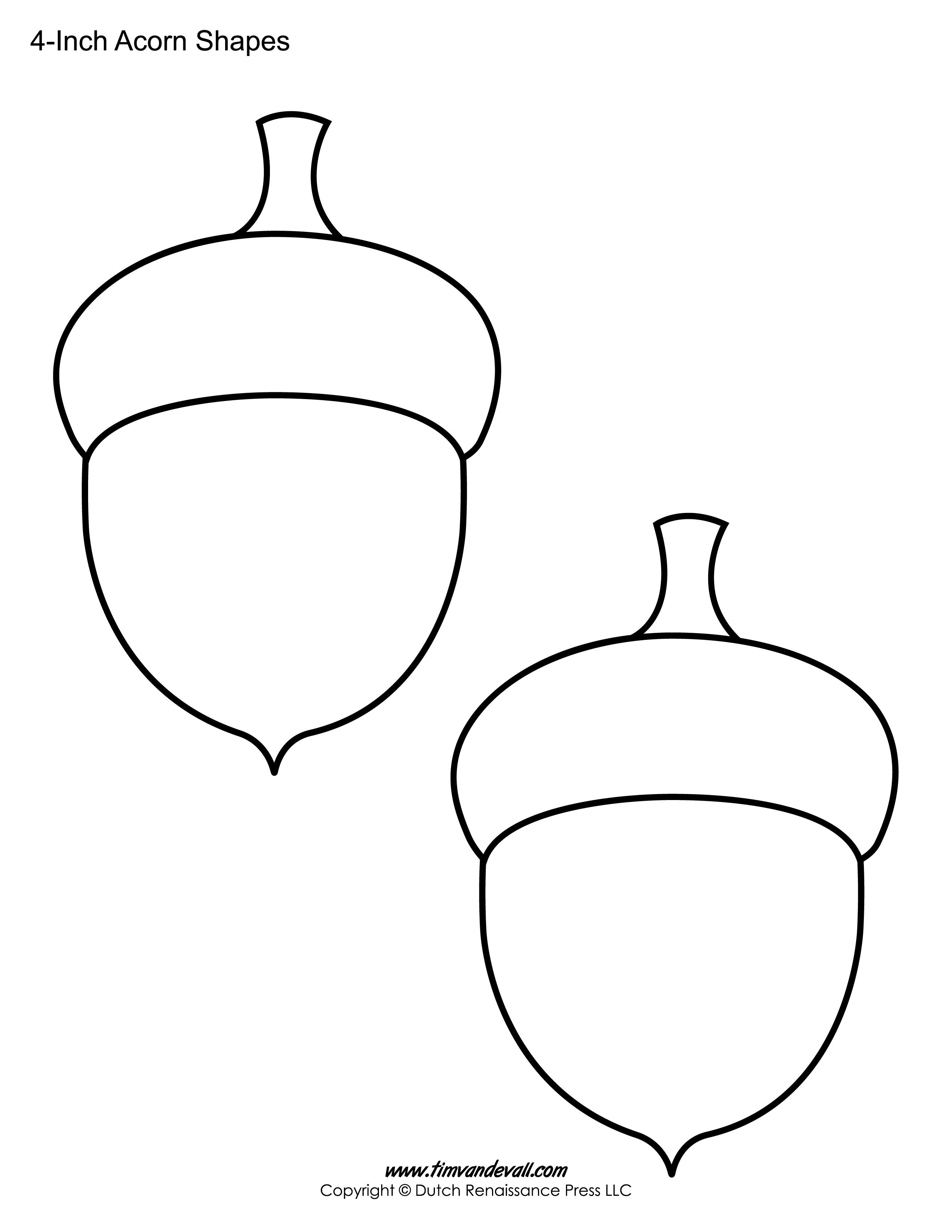 Acorn Printable Sheet   Templates   Fall Crafts, Applique Templates - Pumpkin Shape Template Printable Free