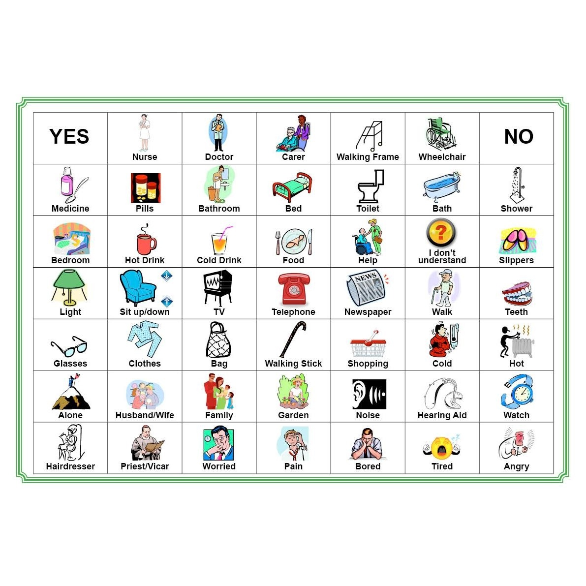 Activities For Elderly People With Dementia And Alzheimer's - Free Printable Picture Communication Symbols