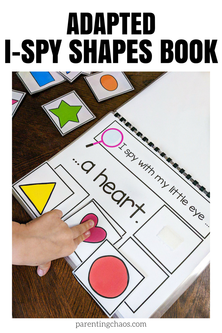 Adapted I Spy Shapes Book -- Free Printable | Parenting Chaos - Free Adapted Books Printable