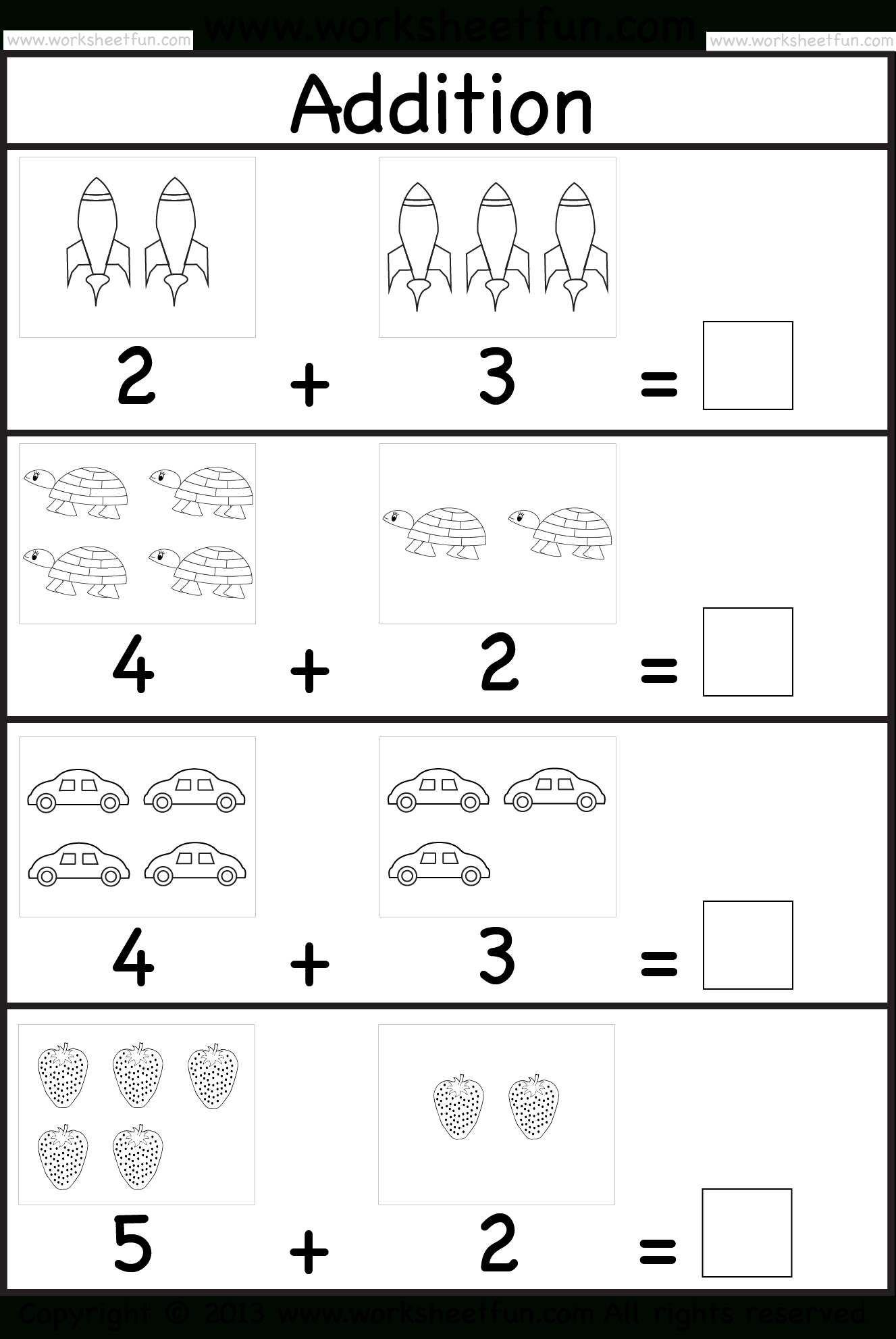 Addition Worksheet. This Site Has Great Free Worksheets For - Free Printable Preschool Addition Worksheets