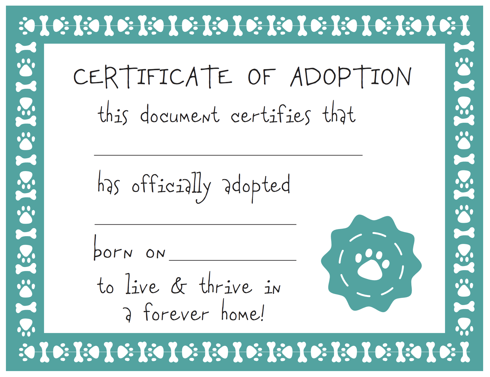 Adoption Certificate Template Free - Demir.iso-Consulting.co - Free Printable Adoption Certificate