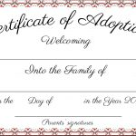 Adoption Certificate Template Word | Certificatetemplateword   Free Printable Adoption Certificate