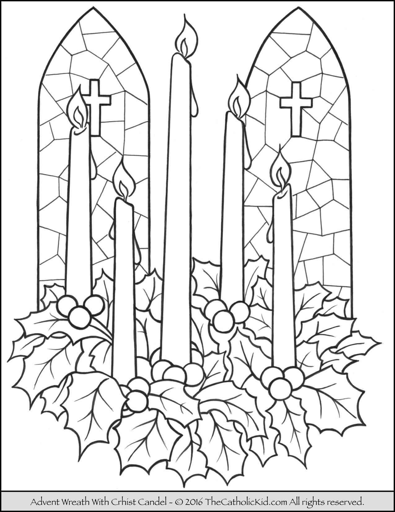 Advent Wreath Christ Candle Coloring Page   Art   Pinterest - Free Printable Advent Wreath
